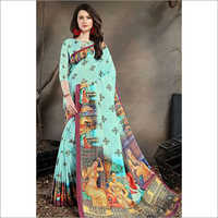 Digital Print Silk Fabric Sarees
