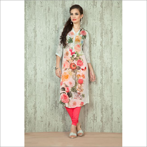 Ladies Printed Collar Kurti