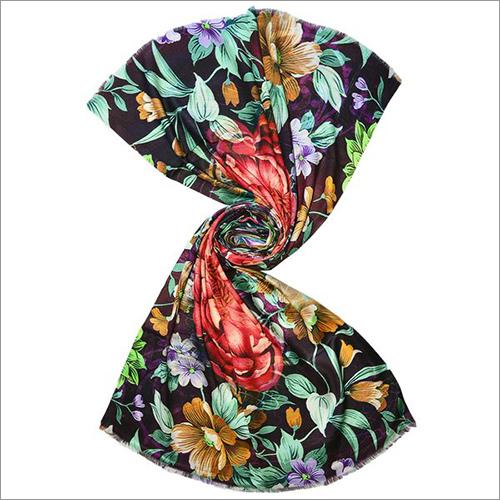 Big Crysanthemum Dalhia Floral Digital Print Design Scarf