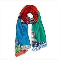 Susannagh Grogan Ribbon Print Long Silk Scarf