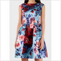 Ladies Digital Printed Dress Fabric