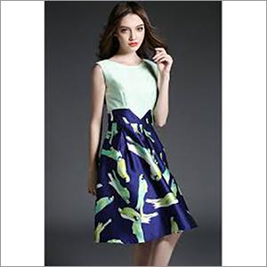 Ladies Digital Printed Dress Fabric