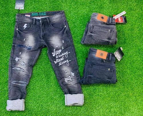 Black & Blue Fancy Men Denim Jeans