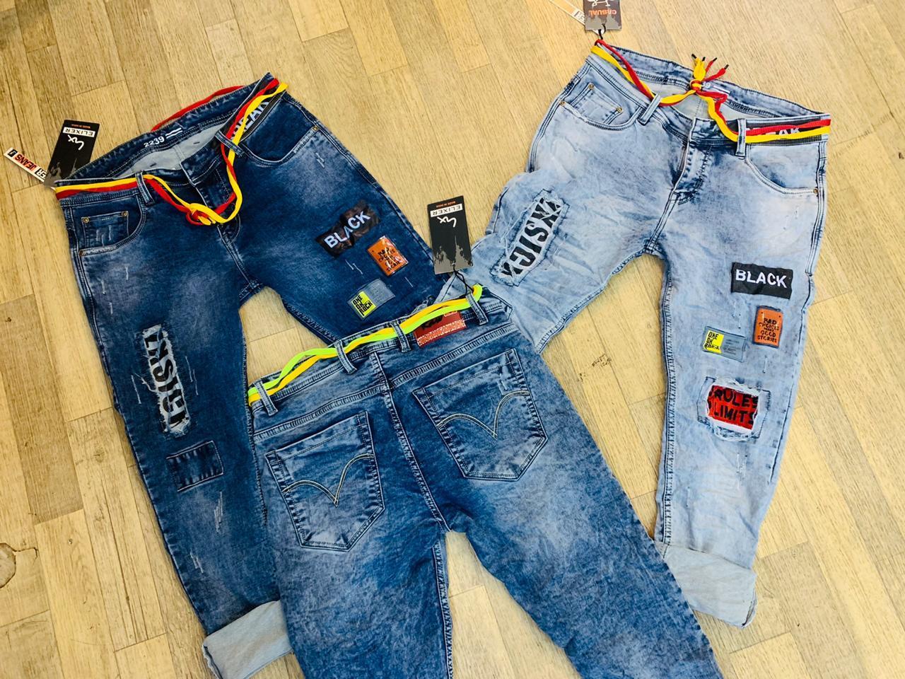 Men's Faded Jeans