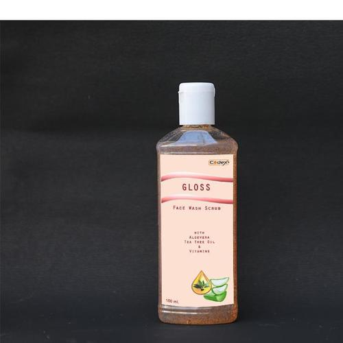 Gloss Face Wash Scrub With Aloevera & Tea Tree Oil
