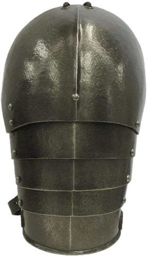 B07V2S83HX LARP Shoulder Armor Medieval pauldrons Reenactment Halloween Costume Brown