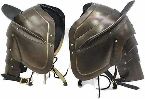 B07V2RSMDK Medieval Shoulder Armor Reenactment Body Costume Brown