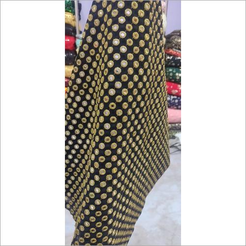 Heavy Mirror Work Fabric