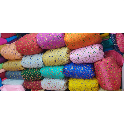 Paper Silk Embroidery Fabric