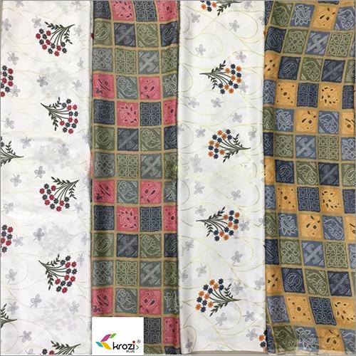 Rayon Slub Foil Fabric