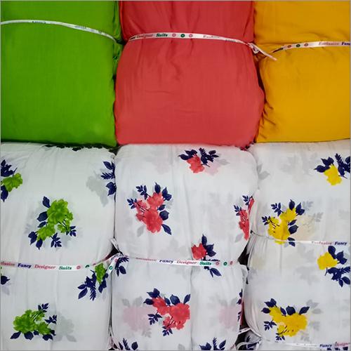 BSY Slub Designer Printed Fabric