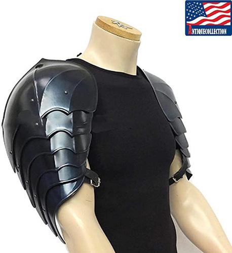 B07FKRJJRC Medieval Dark Pauldrons Shoulder Armour