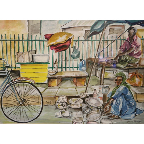 Life On Pavements Painting