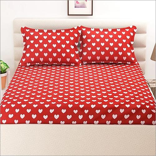 Heart Printed Bed Sheet