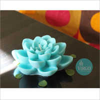 Large Lotus Blue Candle pack of 1