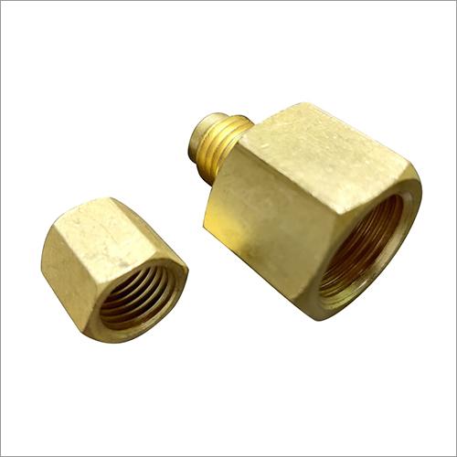 7-16 UNF x 7-16 UNF Brass Male Connector