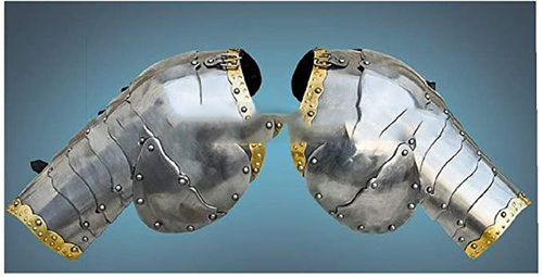 B07NN4Q9BN Medieval Combat Pauldrons Knight Armor Silver