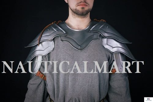 B074L2369H NauticalMart Steel Knight Pauldron Medieval Shoulder Armor LARP Pair Halloween Costume