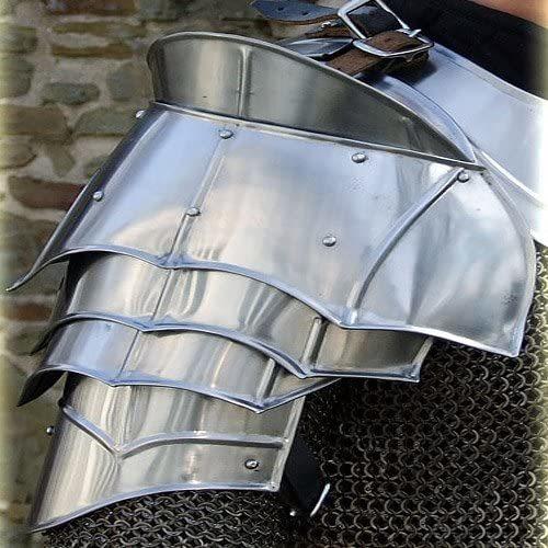 B00CXVXGSM Steel Warrior Pauldron Medieval Shoulder Armor Set 20g