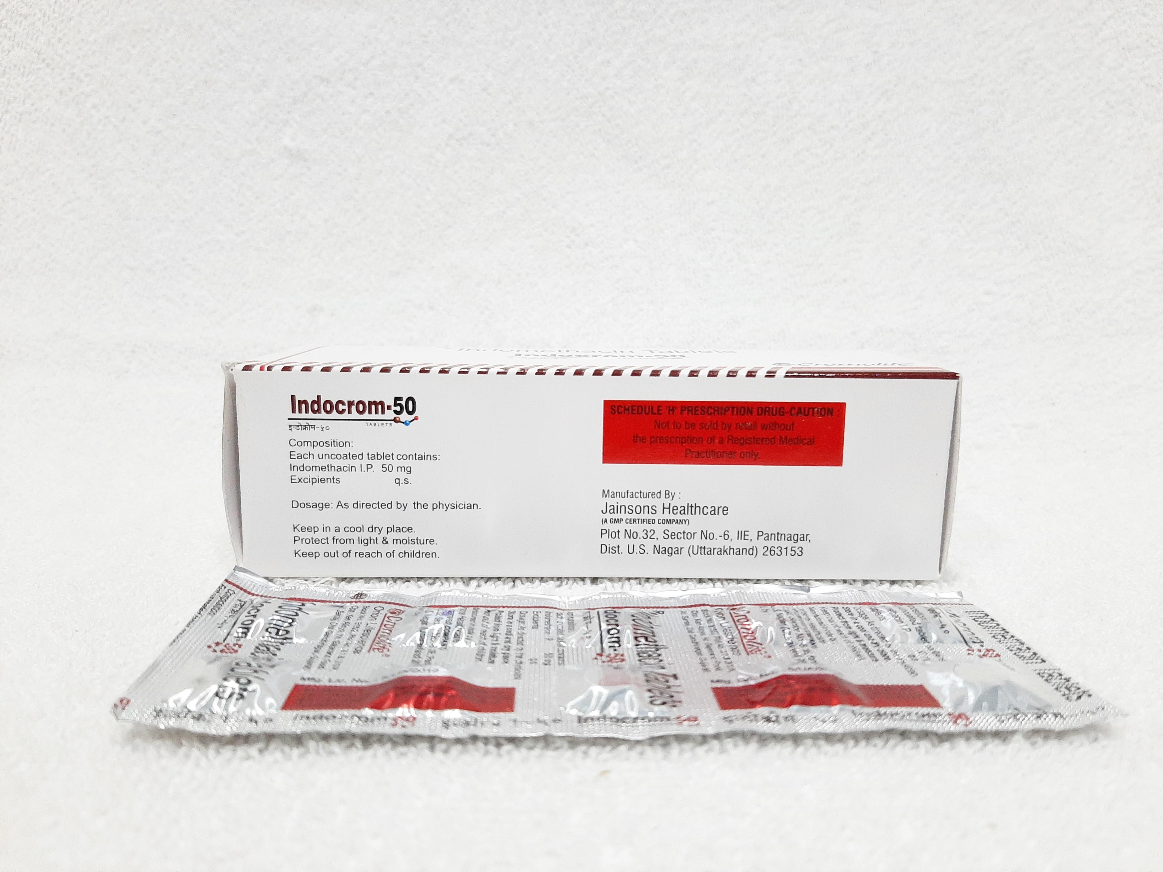 Indomethacin I.P. 50 mg Tablet