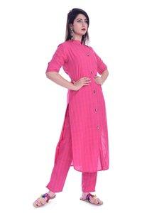 Remtex Women Kurta Pant Pink