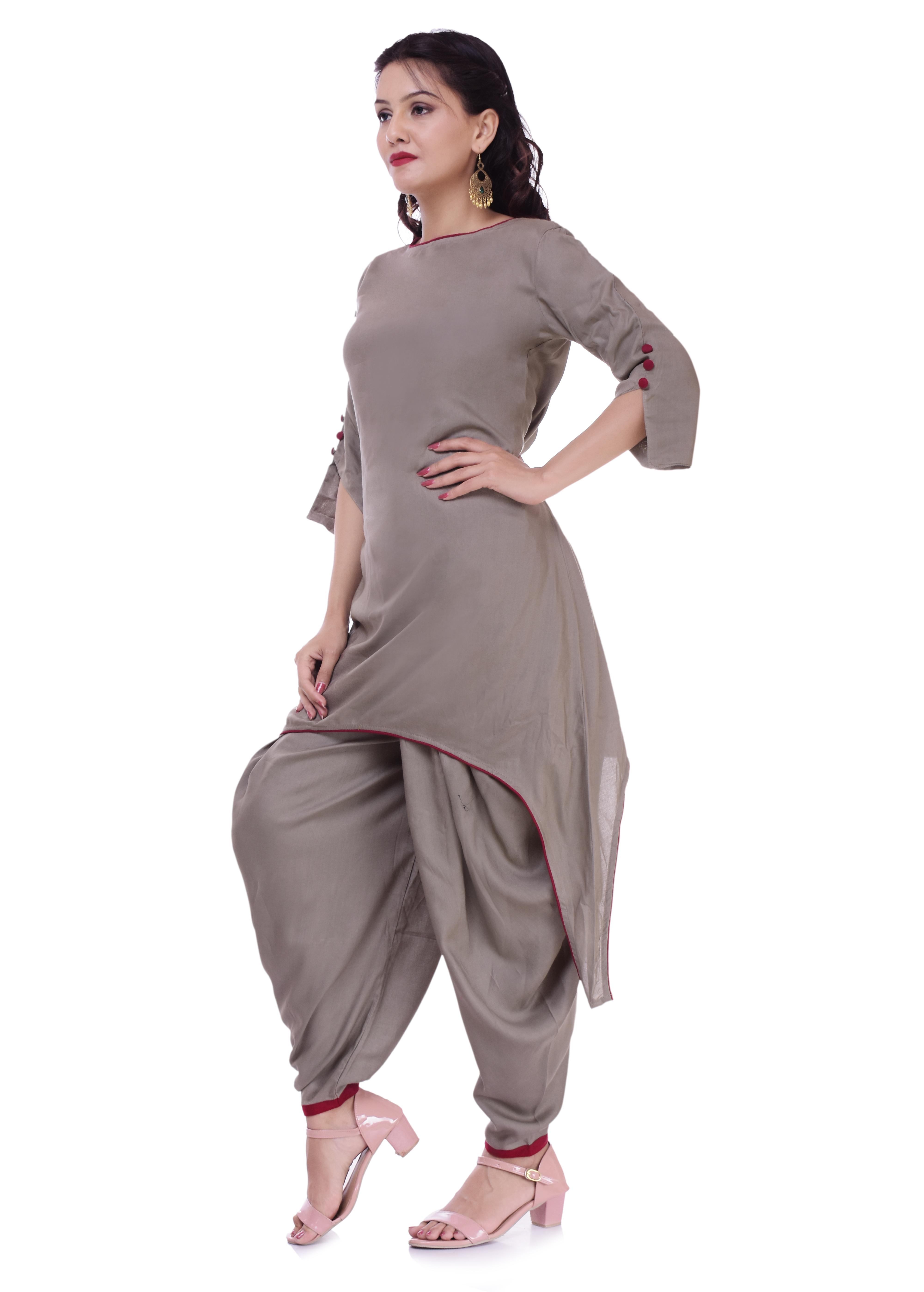 Remtex Women Kurta Dhoti Grey