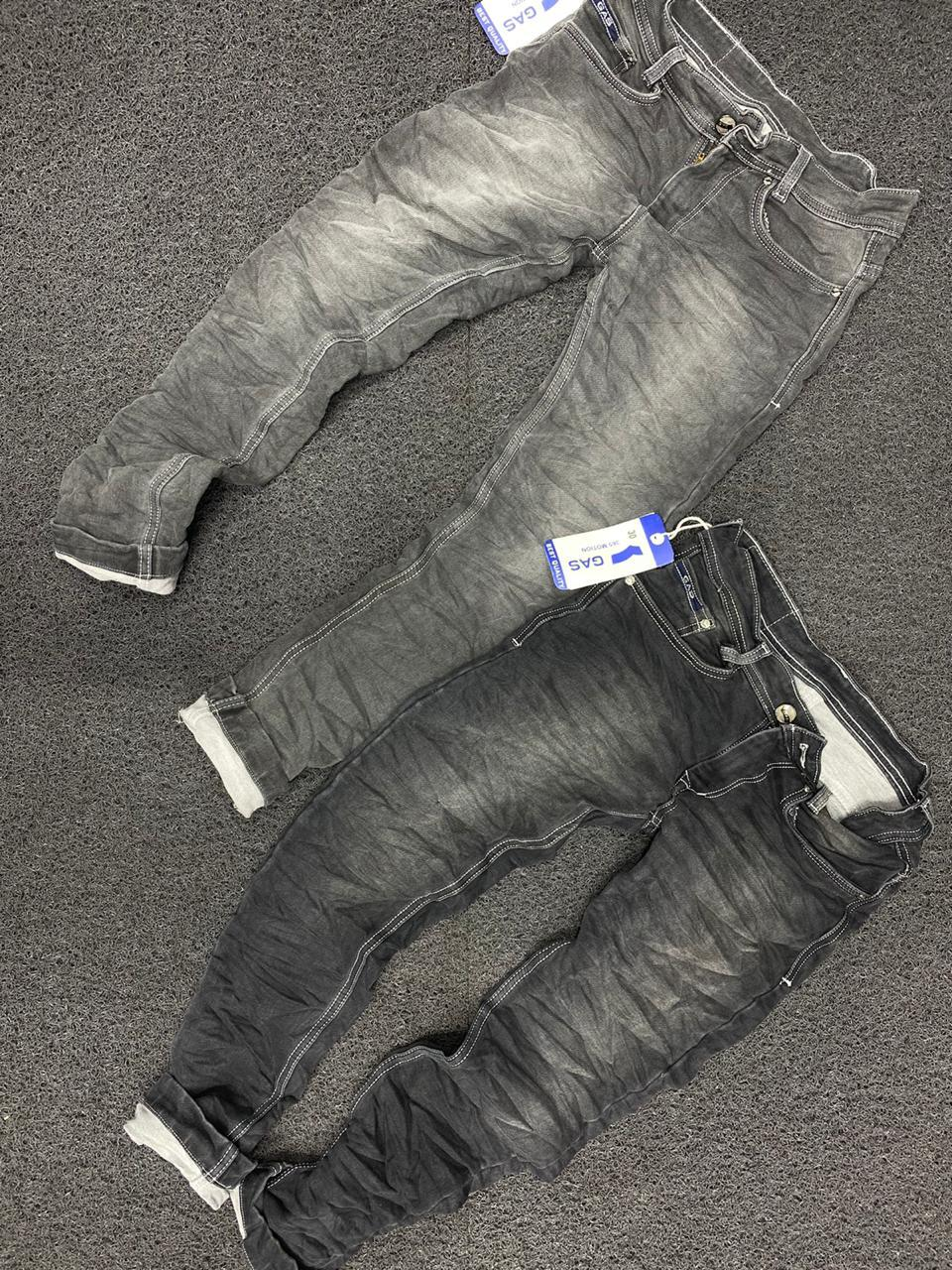 Men's Faded Denim Jeans
