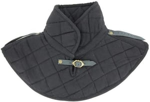 B008YXC99U Renaissance Cotton Armor Padding Collar Medieval Garment Black