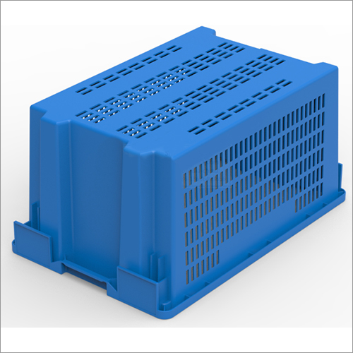 Plastic Crate Stackable and Nestable for Fruits Vegetables Groceries