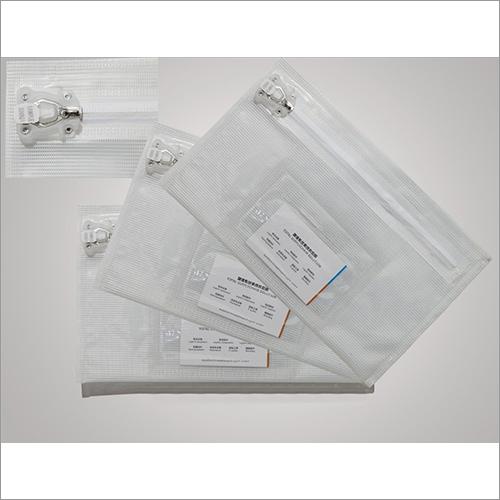 Zipper Waterproof Pvc Security Bag