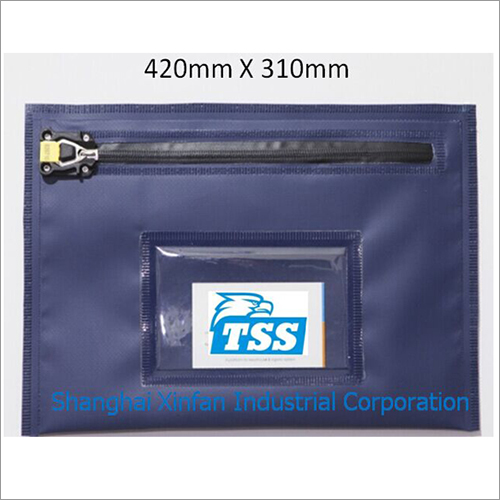 Reusable Zip Security Bag Water Proof PVC for Cash Cheque Documents Valuables