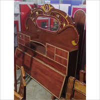 Wooden Bed Fancy Headboard