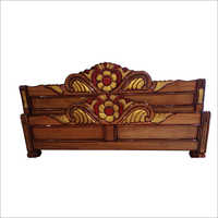 Wooden Bed Curved Headboard