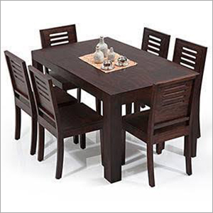Wooden 6 Chair With Dining Table