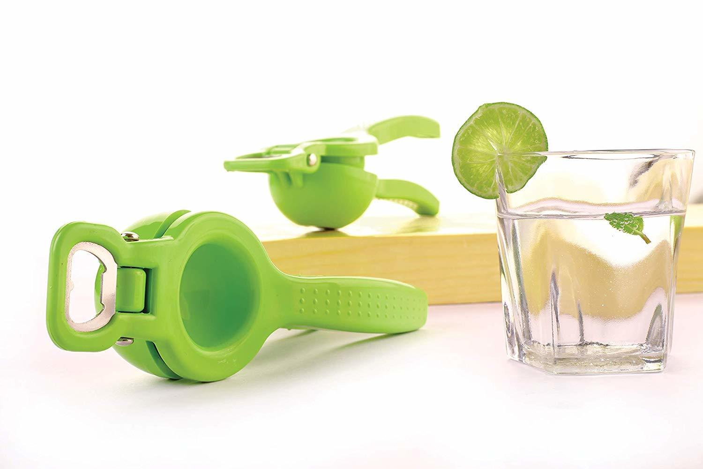 Plastic Lemon Squeezer with Bottle Opener/Lemon Crusher, 2 in 1 Lemon Squeezer