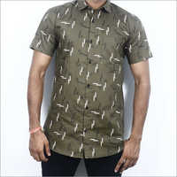 Mens Half Sleeve Printed Shirt