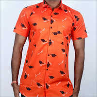 Mens Summer Printed Casual Shirt