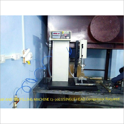 Single Head Oil Liquid Filling Machine For Jar-Can And Tin
