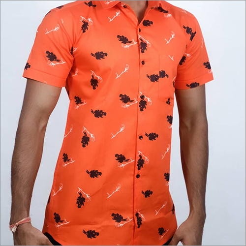 Mens Summer Printed Casual Shirt