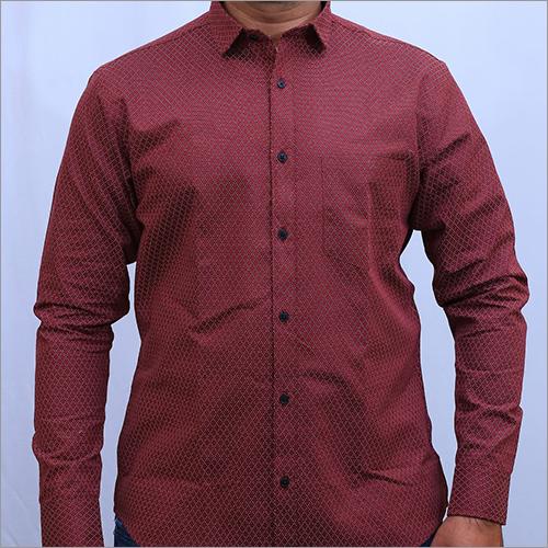 Mens Full Sleeve Solid Linen Shirt
