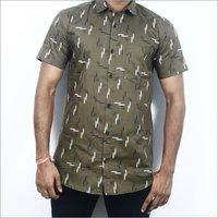 Mens Half Sleeve Printed Shirt