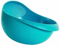 Colander Mixing Bowl Washing Rice, Vegetable and Fruits Drainer Bowl