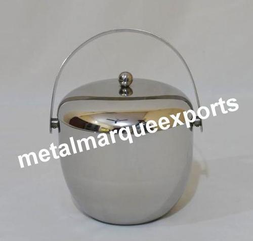 Stainless Steel Shining Polish Ice Bucket