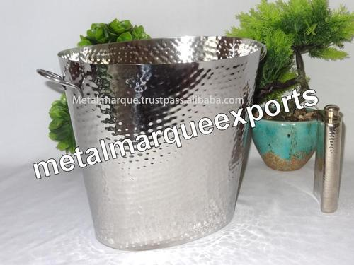 Stainless Steel Hammered Champagne tub