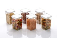 Air Tight Containers Plastic Boxes for Storage Kitchen Container Set, 1100 Ml (PACK OF 12)