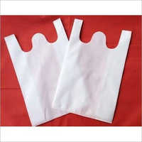 W Cut White Non Woven Bag