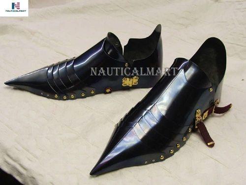 B07DYNT3LZ Black Knight Armor Shoes Sabaton for Reenactment Halloween Costume
