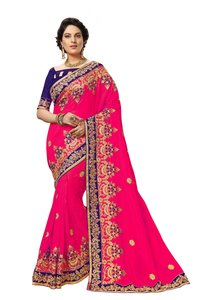 Silk Embroidery work Saree