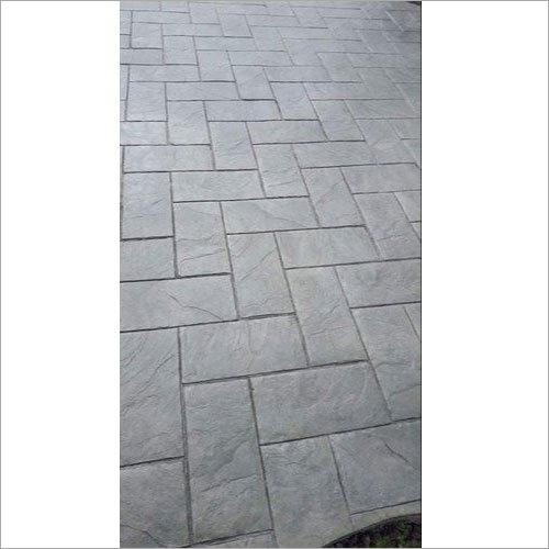 Grey Polished Stamped Concrete Flooring Services