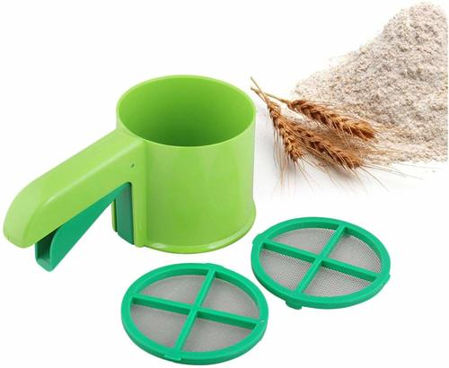Flour Shifter Strainer with Multi-Purpose Scoop